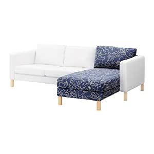IKEA KARLSTAD - Cubierta para add-on chaise longue, Bladaker azul, beige