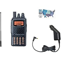 Yaesu FT-60R Handheld Radio Bundle with Diamond SRH77CA High Gain Antenna, Yaesu SDD-13 12V DC Adapter, and HAM Guides Quick Reference Card
