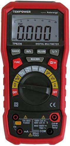 Tekpower TP8236 True RMS USB Digital Multimeter AC DC Voltage Current Capacitance Frequency Resistance Temperature USB Date Logger
