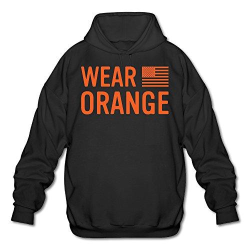 [PHOEB Mens Sportswear Drawstring Hoodies Outwear Jacket,Orange Is The New Black Black Medium] (Thunder Lightning Costume)