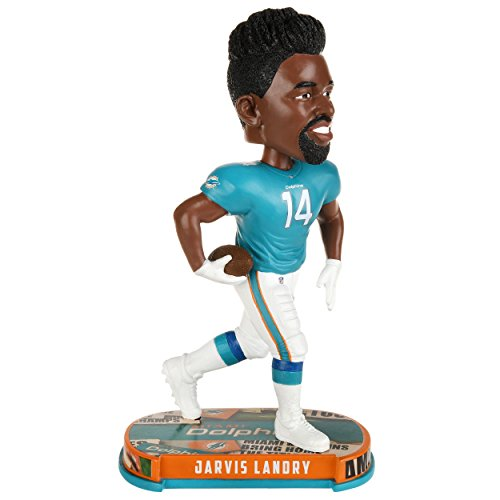 Forever Collectibles Jarvis Landry Miami Dolphins Headline Special Edition Bobblehead NFL (Bobble Miami Dolphins Head)