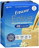 Ensure Enlive Advanced Nutrition Shakes Vanilla, 16 - 8 oz bottles, Pack of 4