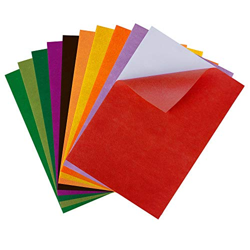 (Sticky Back Felt Sheets Fabric A4 Size Crafts Adhesive Felt Sheets 8.3x11.8 Inch Ideal for Art and Craft Making DIY Christmas Decoration)