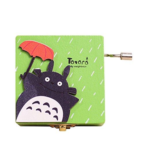 otoro Wooden Music Box, Ideal Gift for Ghibli Fans, 1 Piece (Random Pattern) ()
