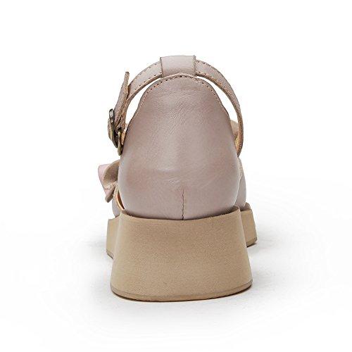 HUIGU Piatti Premio Minority Aggiornamento Moda Petali Pelle Pantofole KJJDE Infradito In Cuciti Sandali In Stile Donna Lightgrey 7566 ZE5wfIqx