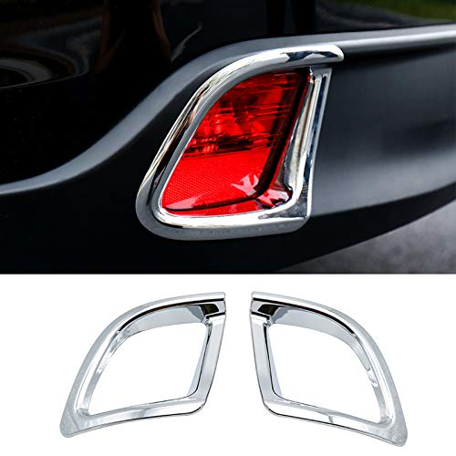 For Toyota Highlander 2014 2015 2016 2017 2018 Chrome Rear Tail Fog Light Foglight Lamp Cover Trim Reflector Bumper Frame Bezel Molding Garnish Surround Protector Decoration Car Styling ()