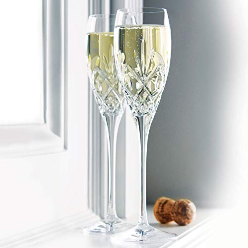 Waterford Huntley Crystal Wedding Toasting Flutes, Pair