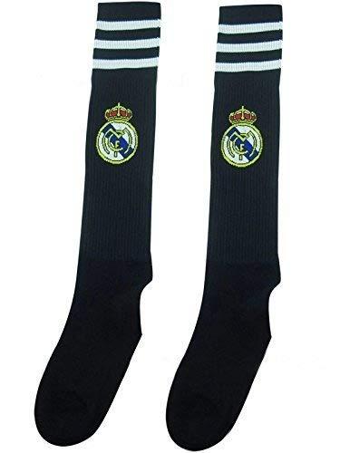 Real Madrid Kids Youth Soccer Team Socks (Black)