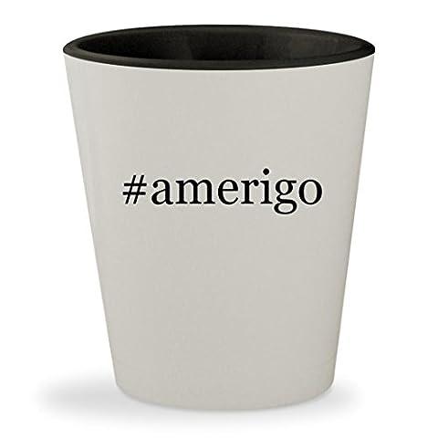 #amerigo - Hashtag White Outer & Black Inner Ceramic 1.5oz Shot Glass (Accutron Board)