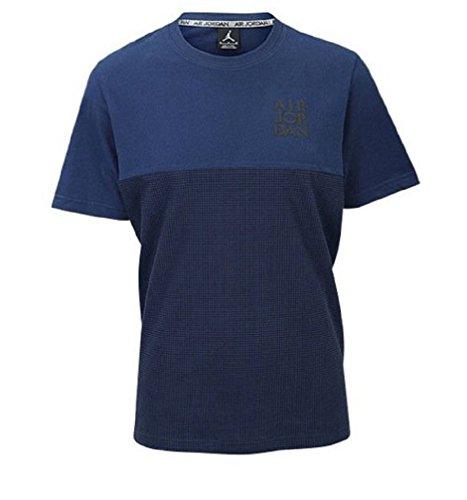 [653984-410] AIR Jordan AJ IV لباس استنسیل TOP AIR JORDANNAVY سیاه و سفید آبی