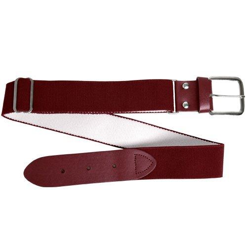 Wilson Adult Elastic Baseball Belt, Maroon (Maroon Athletic Belt)