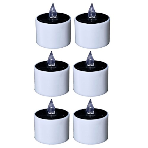 Fityle Flameless Solar Tealight Candles for Camping, Home, Window, Yard Decor in White by Fityle (Image #2)