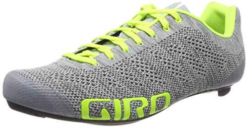 Giro Empire E70 Knit Cycling Shoes - Men's Grey Heather/Highlight Yellow 45