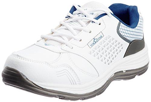 Vokstar Men's White and Grey Running Shoes - 9 UK (V231)