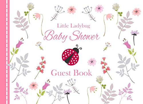 Little Ladybug Baby Shower Guest Book: Pink Advice for Parents and Gift -