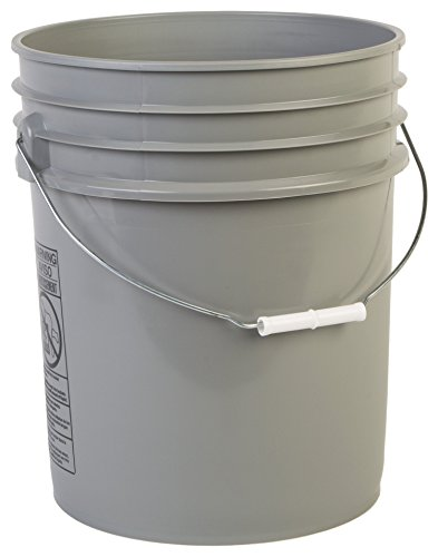 - Hudson Exchange Premium 5 Gallon Bucket, HDPE, Gray, 3 Pack