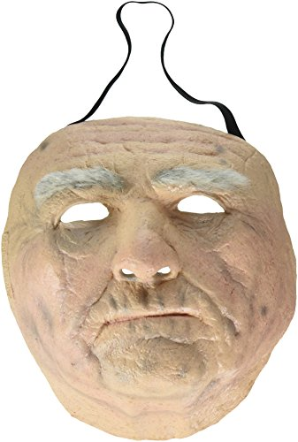Trick or Treat Studios Men's Old Man Face Mask, Multi, One Size (Old Man Mask For Sale)