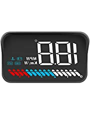 wiiyii Car HUD Head Up Display M7, OBD/GPS Smart Gauge, Driving Speed, Engine RPM, Voltage, Water Temperature, Etc, Works Great for All Cars