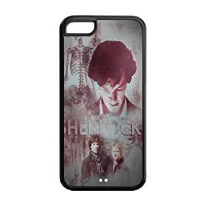 drop ship USA hot TV Sherlock cheap iphone 5c black Case 100% TPU Artistic unique distinctive Marvel Protective Design Cover 777phonecase
