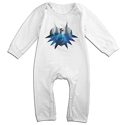 [Mmo-J Newborn Babys Legend Logo Zelda Long Sleeve Jumpsuit Outfits White Size 24 Months] (Miley Cyrus Princess Costume)