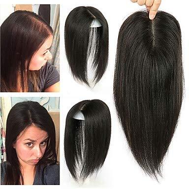 ZYC Human Hair Extensions Straight Human Hair Extension Human Hair Extensions Hair Piece Brazilian Hair 1 Piece Fashionable Design Soft Women's Natural Black