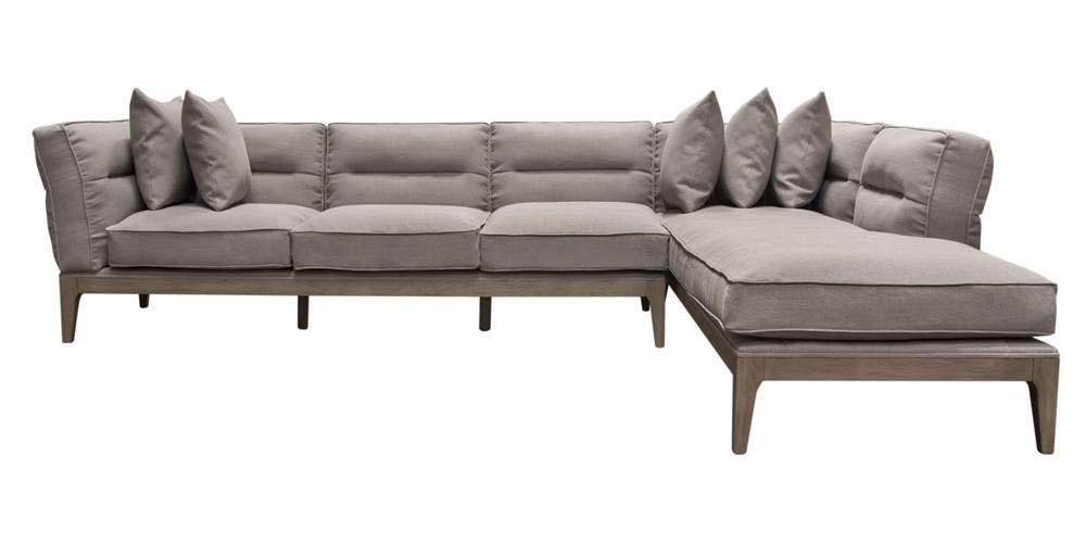 Amazon.com: Eden 2-Pc Sectional Sofa in Gray: Kitchen & Dining