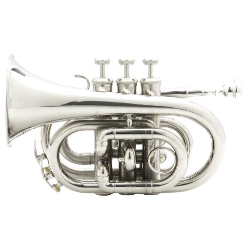 Large Product Image of Mendini MPT-N Nickel Plated Bb Pocket Trumpet