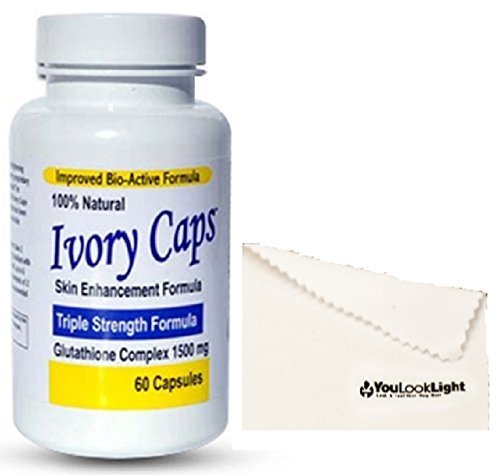 Ivory Caps Skin Enhancement Glutathione Complex - Triple Strength Formula by YouLookLight