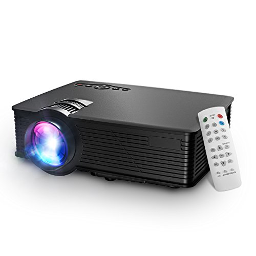 Mini Projector, Mpow Portable Projector Multimedia Home Theater With USB SD HDMI VGA LED Projecteur 1080p HD Home Theatre LCD Projector for TV Laptop Camera iPhone Andriod Smartphone with Free HDMI Cable Compact Projector wit Keystone Correction