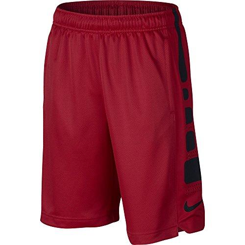 NIKE Boy's Elite Basketball Short University Red/Black Size Large