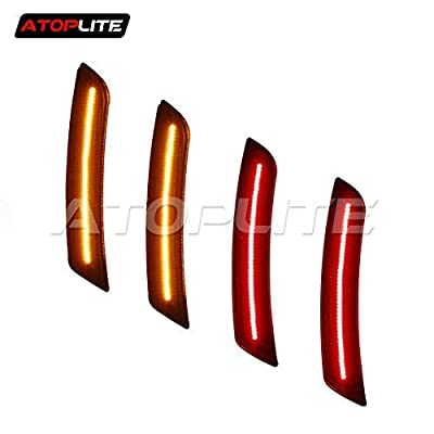 Smoked/Clear LED Side Markers for 2016-2020 Chevrolet Camaro (Red x 2,Amber x 2): Automotive