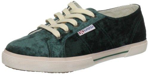 Superga 2950 Velvu - Zapatos con cordones de lona unisex verde - Grün (Green Pine)