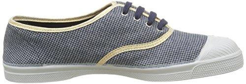 Tennis Mujer de Puce 9985 Zapatillas Checks De Azul deporte Pied Bensimon Tdg7wqw