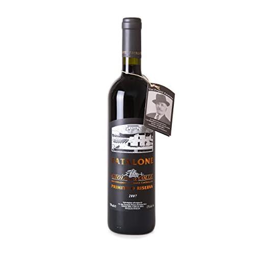 41cVppH4T6L Primitivo-Riserva-DOC-2017-Fatalone-Organic-Red-Wine-100-Primitivo-grapes-alcohol-15-Case-of-6-Bottles