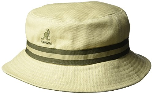 Kangol Men's Stripe Lahinch, Beige, Large (Beige Bucket)