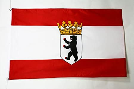 Bandera BERLINESA Estado Alemania 90 x 150 cm AZ FLAG Bandera de BERL/ÍN 150x90cm