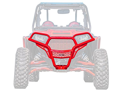 SuperATV Heavy Duty Front Brush Guard Bumper for Polaris RZR XP 1000/4 1000 (2014-2018) - Red