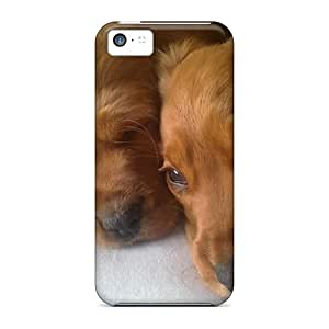 Case Cover Golden Puppies/ Fashionable Case For Iphone 5c