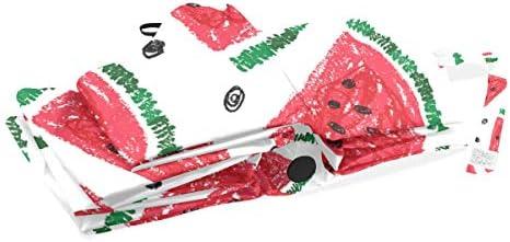 Akiraki 折りたたみ傘 レディース 軽量 ワンタッチ 自動開閉 メンズ 日傘 UVカット 遮光 西瓜 すいか ホワイト かわいい 可愛い 果物 折り畳み傘 晴雨兼用 断熱 耐強風 雨傘 傘 撥水加工 紫外線対策 収納ポーチ付き