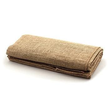 LinenTablecloth Square Burlap Tablecloth, 80 Inch