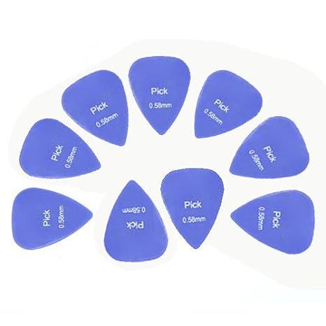 Guitarra pick-sodial (R) 10 x púa Guitarra Accesorios Alice 0,58 ...