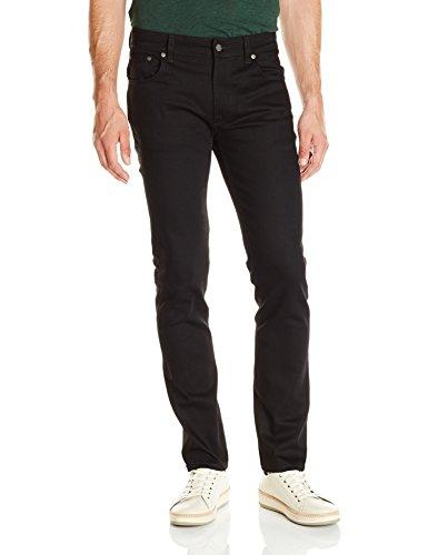(Nudie Jeans Men's Thin Finn, Dry Cold Black, 32x32)