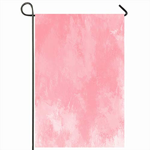 Ahawoso Outdoor Garden Flag 12x18 Inches Hand Artistic Pink Watercolor Digital Painting Light Red Abstract Blank Brush Color Creativity Seasonal Double Sides Home Decorative House Yard Sign