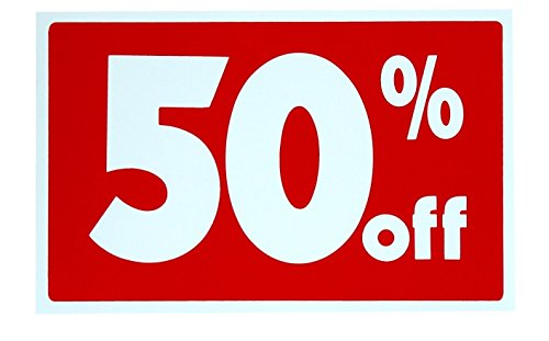 1 Set Lavish Unique Sale 50% Percent Off Sign Plastic Store Declare Pricing Poster House Business Tags Retail Banner Clearance Price Home Holder Post Decals Display Yard Signage Signs Size 7