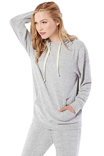- Rohb by Joyce Azria Sunday Relaxed Pullover Hoodie (Heather Grey) Size M