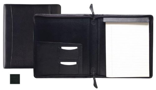 Raika VI 143 BLK Standard Zipper Writing Pad - Black by Raika