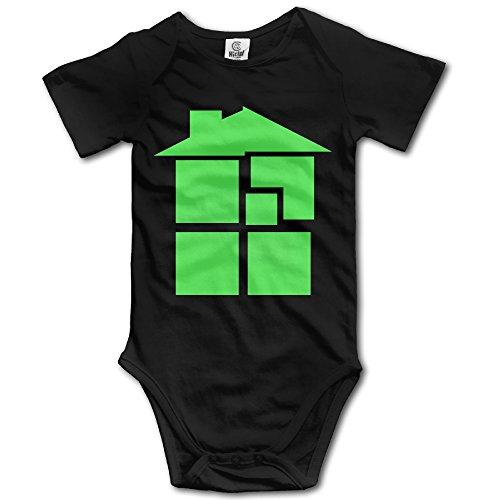 U9 6-24 Months Newborn Babys Boy's & Girl's Homestuck Anime Short Sleeve Bodysuit Baby Onesie Black Size 12 Months
