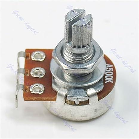 SimpleLife A500K Split Shaft Pots Potenciómetro Guitarra Tono de Guitarra Piezas de Interruptor Perilla: Amazon.es: Hogar