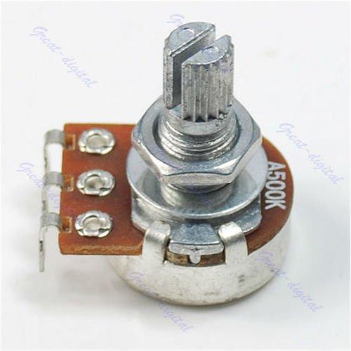 Tebatu Guitar Parts,A500K Split Shaft Pots Potentiometer Guitar Audio Tone Switch Knob
