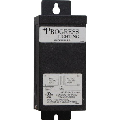 Progress Lighting P8604-31 12-Volt Transformer with Thermal Protection and Resettable Circuit Breaker 60 Watt Capacity, - Transformer Remote Flex Illuma